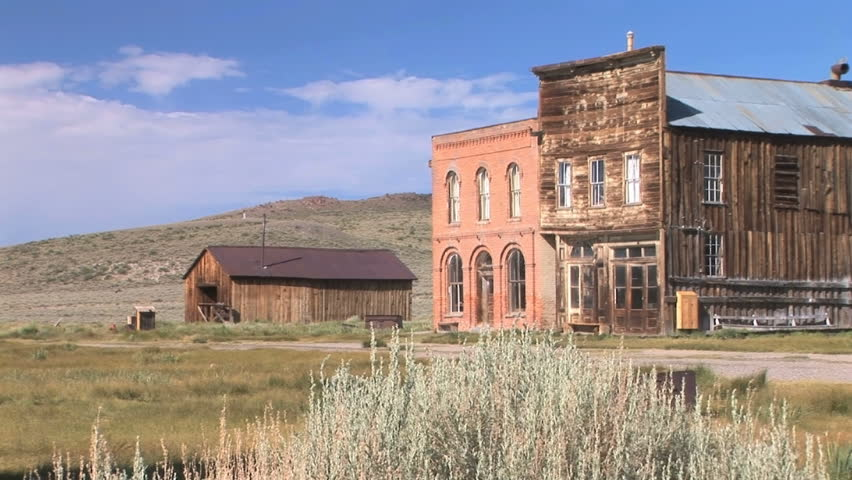 Dechambeau Hotel and I.O.O.F. (Independent Order of Odd Fellows) Buildings in the ghost town of Bodie