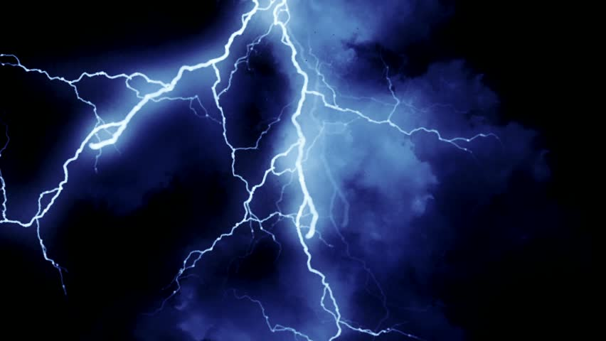 Blue Lightning Strikes Stock Footage Video 3879959 ...