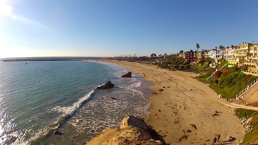 Del Mar Beach Panorama In Southern California Stock Footage Video 6821728