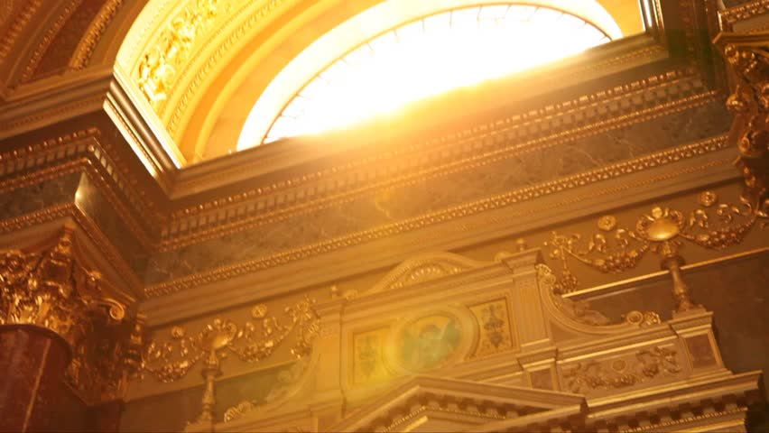 Sun window church Budapest Canon mark II - HD stock footage clip