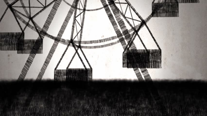 Ferris wheel (draw stop motion - rotoscoping technique)