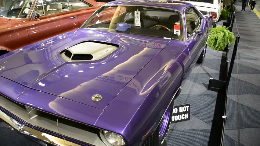 TORONTO,CANADA-FEBRUARY 22, 2014: Exhibition of Classic Cars and Hot Rods in Canadian International Auto Show. The largest auto show in Canada showcases more than 1000 new cars motorcycles and more.