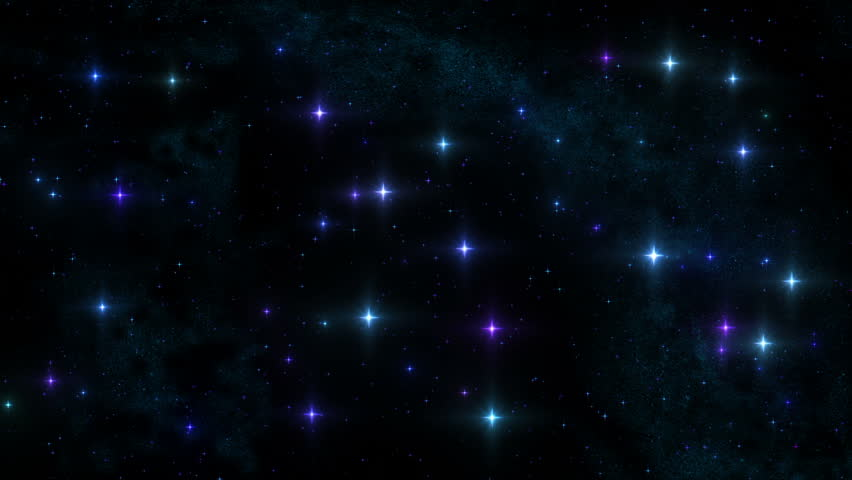 Beautiful night sky with twinkle stars. Loopable. Starfield. Blue. MORE OPTIONS IN MY PORTFOLIO. - HD stock video clip
