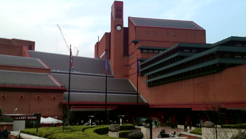 London - 21st March: The British Library in London holds over 150 million items including books, manuscripts and journals.  London - March 21st, 2014. Editorial Only