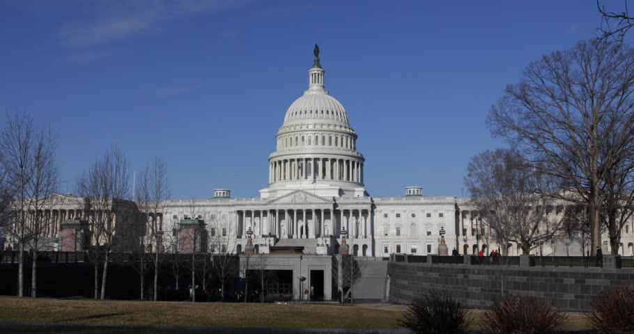 People Visit United States Capitol Building, Washington DC ...