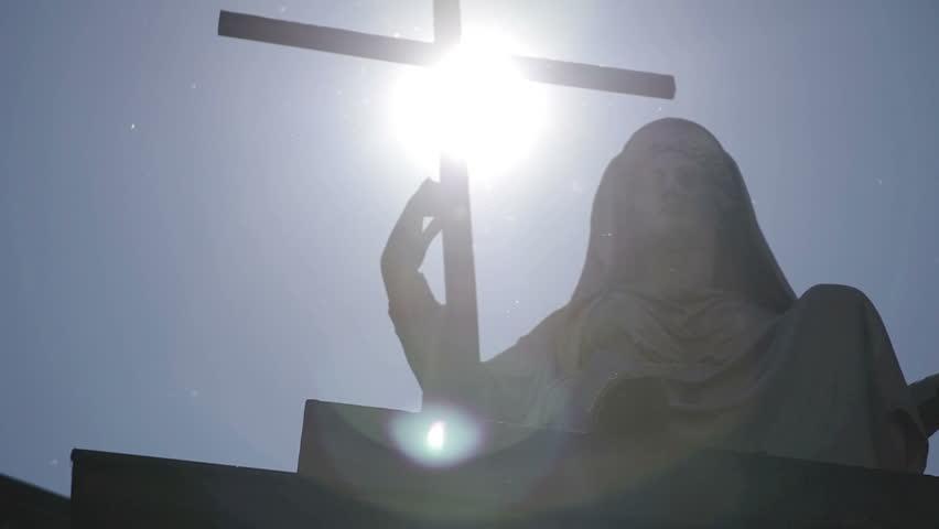 The light blast on the cross of Christ