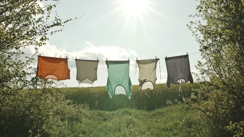 Sunny Summer Day Country House Laundry Hanging Ecology Living