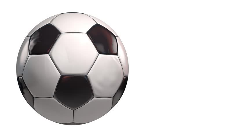 football    soccer ball animated stock footage video
