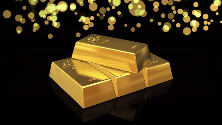 gold bar black background - photo #2