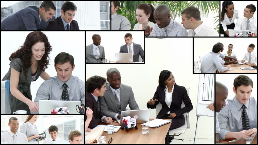 Montage footage of Business team at work - HD stock footage clip