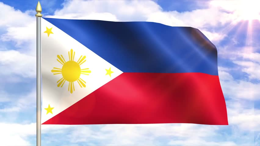 Flag of the philippine sky background stock footage video 6661022 shutterstock - Philippine flag images ...