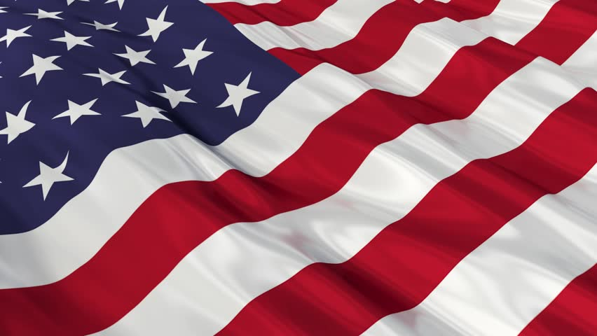 Flag Of The United States Of America Waving In The Wind ...
