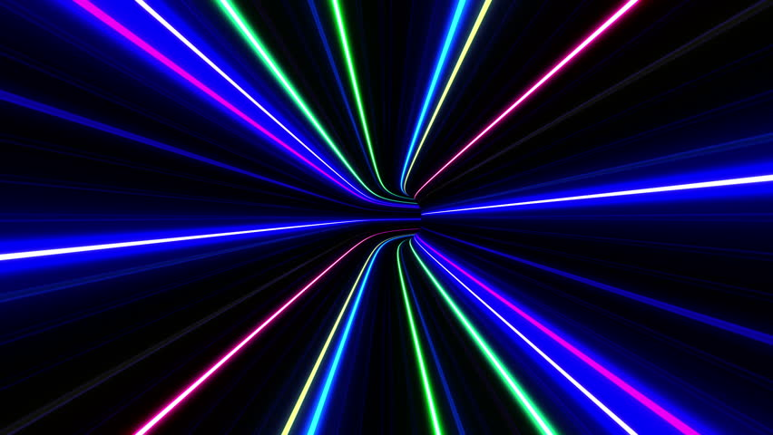 Neon Tube Tunnel.