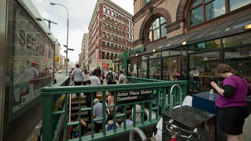 New york july 22 2014 subway station in cooper square for Coopers east village