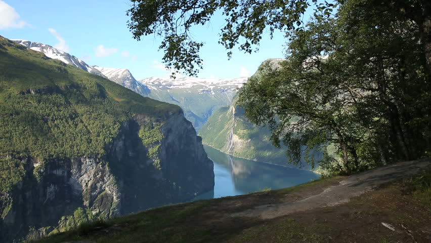 Spectacular view of Geirangerfjord Norway
