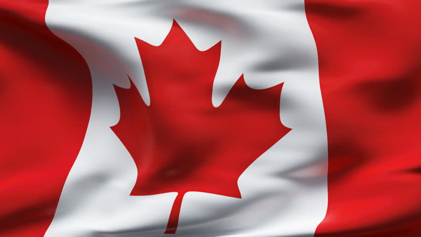 Creased canadian satin flag with visible wrinkle and seams - HD stock video clip