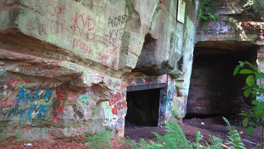 Man Made Cave Art : Beech caves staffordshire july man made medieval