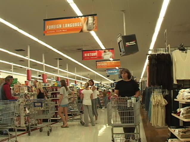 people shopping at Wal-Mart