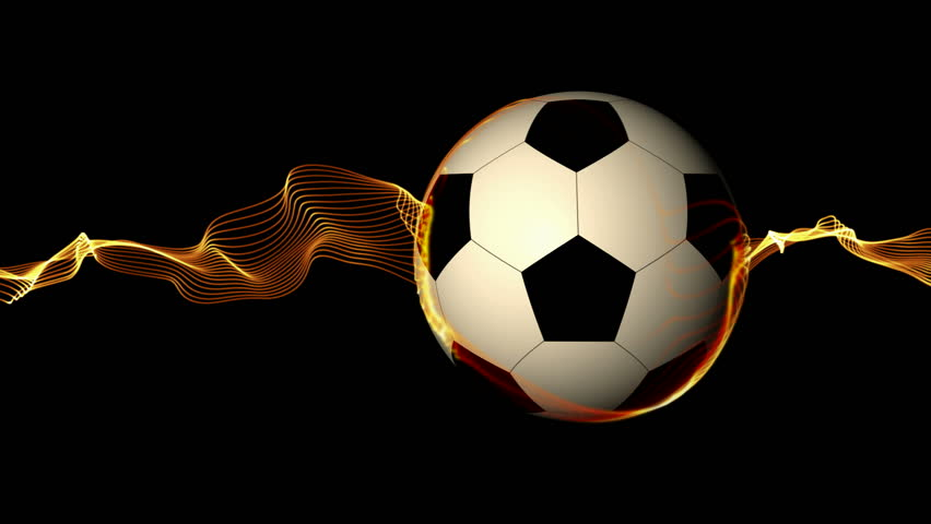 Animated Soccer Ball With Alpha Channel. HD-loop. Stock ... Rolling Soccer Ball Picture