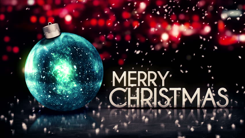 Merry Christmas 2014 Night Bokeh Beautiful 3D Background Loop Animation - 4K ...