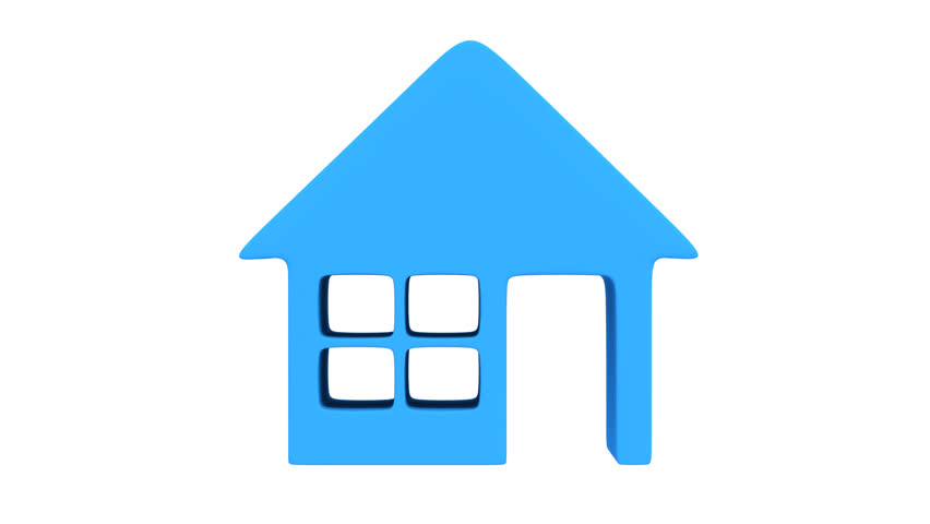 House Icon Rotate Animation. Seamless Looping HD Video