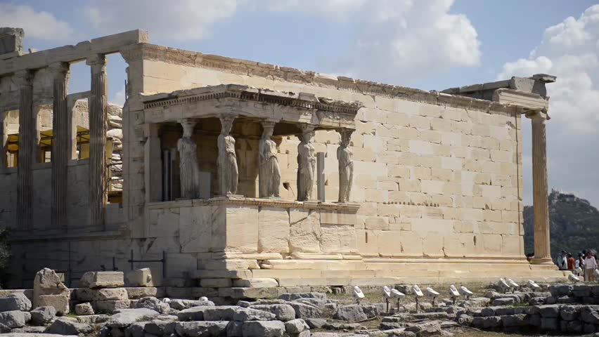 Erechtheion Or Erechtheum Is An Ancient Greek Temple In ...
