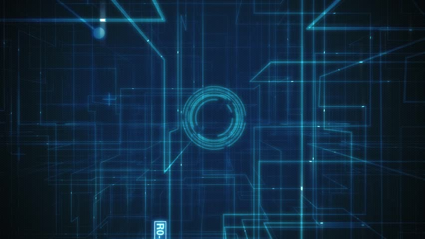 Animated Technology Hud Background Stock Footage Video