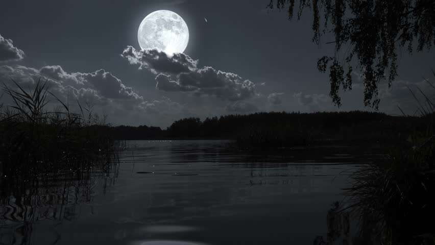 original landscape moon night - photo #45