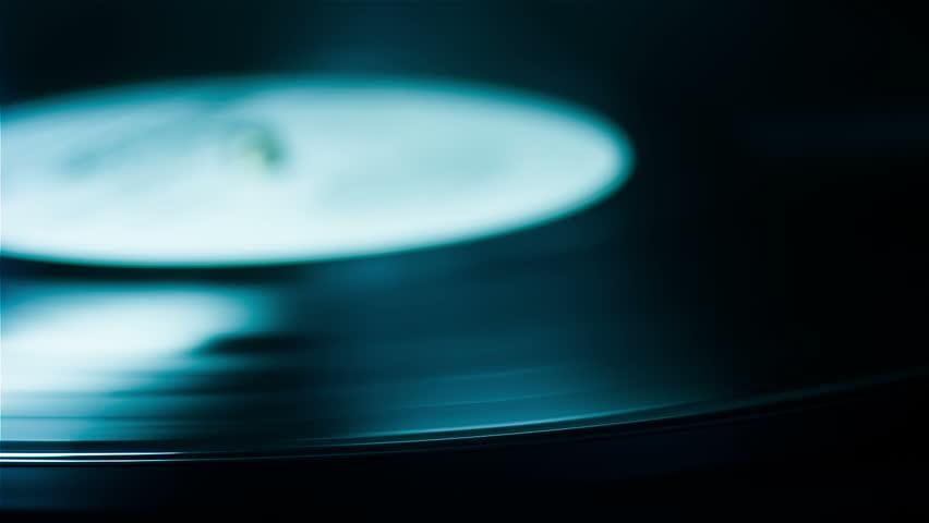 Vinyl Records rotate.