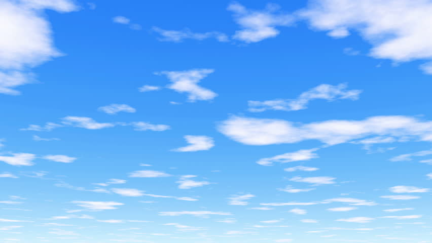 Under the clouds - 4k 30fps - clear white clouds and vibrant blue sky - 4K stock footage clip