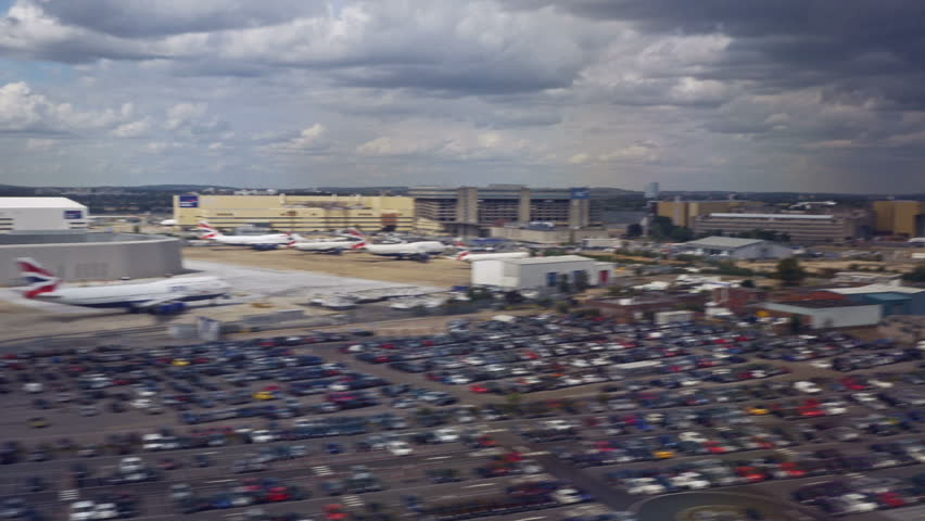 LONDON, GREAT BRITAIN - August 12, 2014: Landing in the the airport of Heathrow