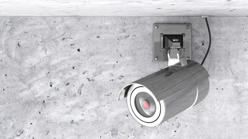 Seamless Looping Animation of CCTV Camera Rotation. HQ Video Clip