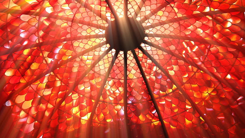 Sun shining through a stained glass roof (Seamless Loop) - HD stock footage clip