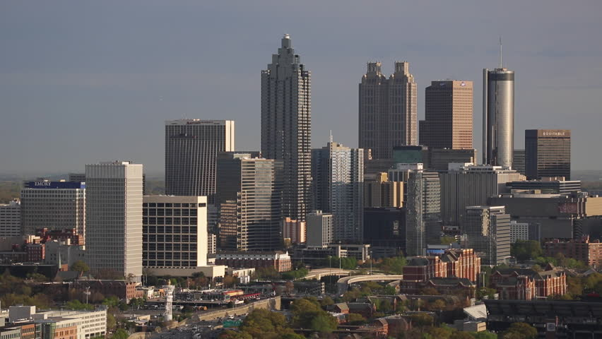Atlanta (IL) United States  City pictures : ... Atlanta Skyline, Georgia, United States Of America Stock Footage Video