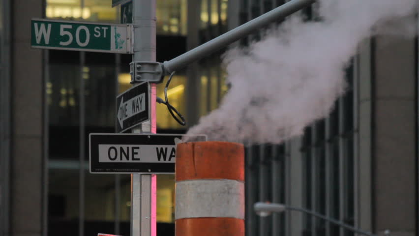 Steam stack, New York City - HD stock footage clip