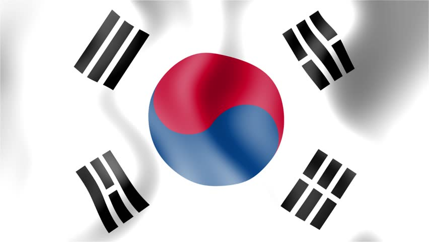 Hd waving flag south korea stock footage video 8255782 - Picture of a korean flag ...