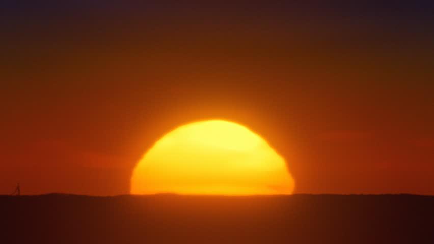 African sun closeup timelapse. - HD stock footage clip