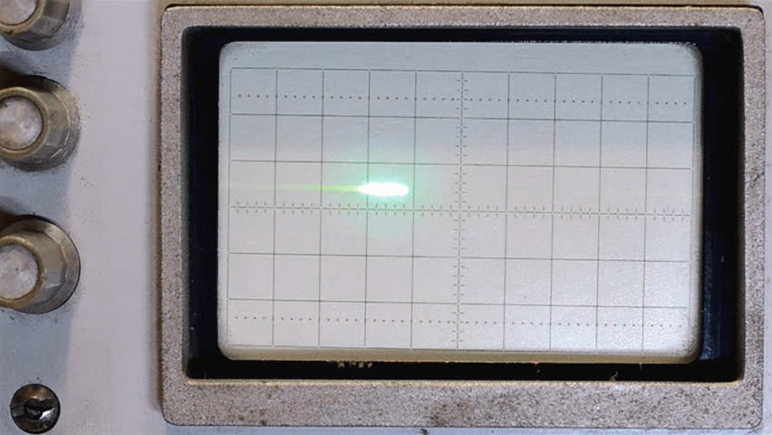 Old Oscilloscope Screen : The sine wave on an old oscilloscope screen stock footage
