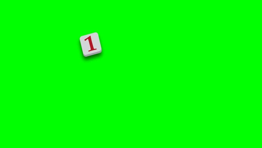 Valentine's Day greeting card phrase, saying. 14th february with colorful blocks on green screen - 4K stock footage clip