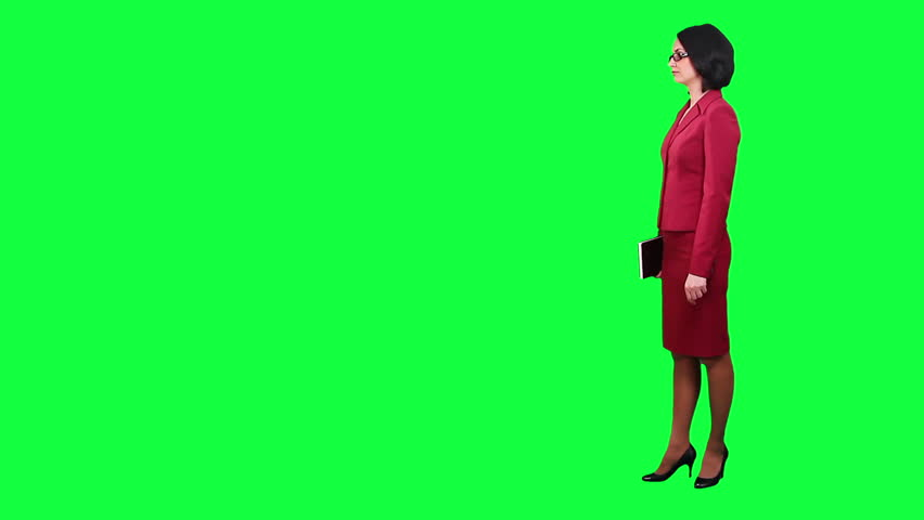 Business woman chroma key