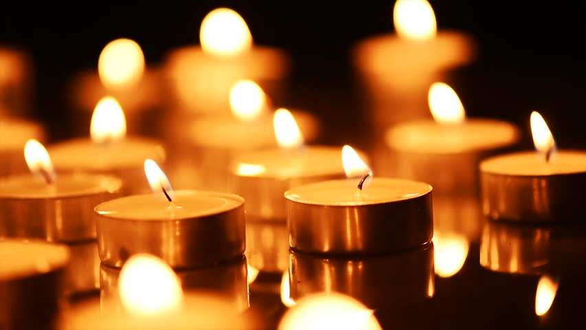 Candles Hd Wallpapers Candle Backgrounds And Images: Candles Light Background. Candle Flame At Night. Holiday