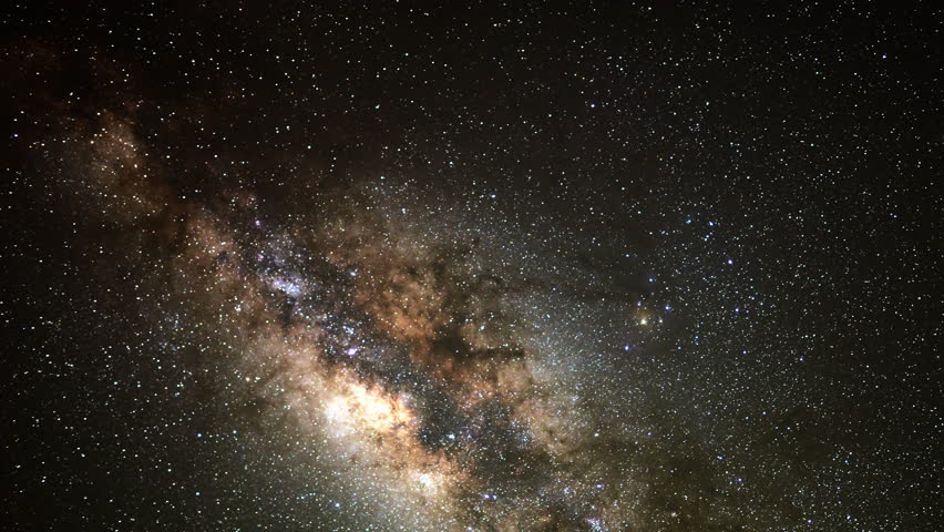 4K Astrophotography time lapse with pan right motion of milky way galaxy shot at Mauna Kea Observatories in Hawaii