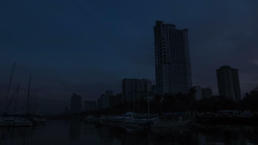 Philippines Manila bay sunrise time lapse