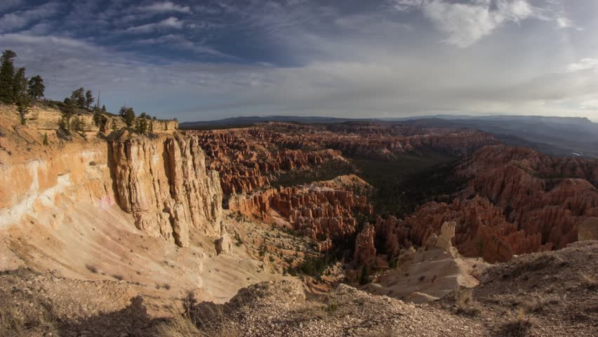 Time lapse of clouds movements at Bryce Canyon National Park in Utah, United State