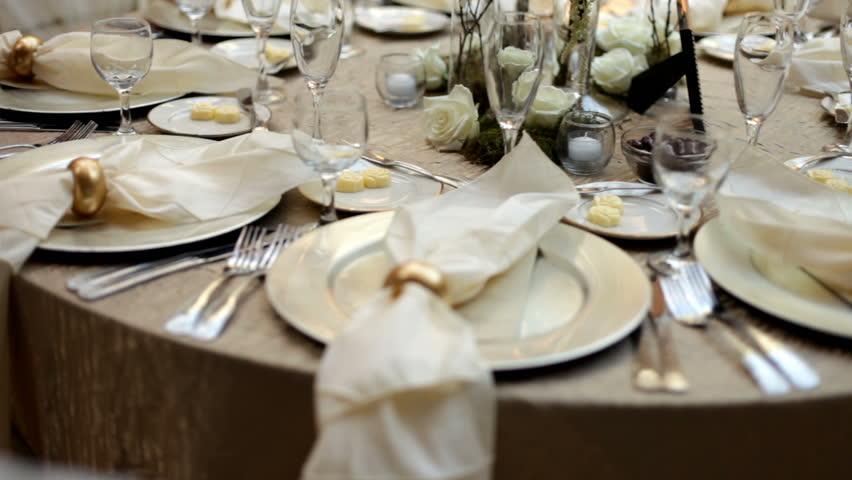 Pan of Prepared Wedding Dinner Table 24p