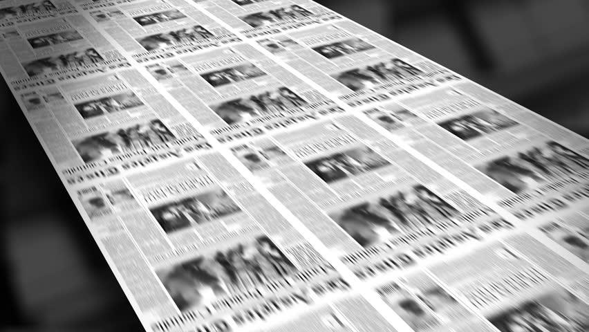 Blank Newspaper Headline (Reveal and Loop) 4K HD Animation
