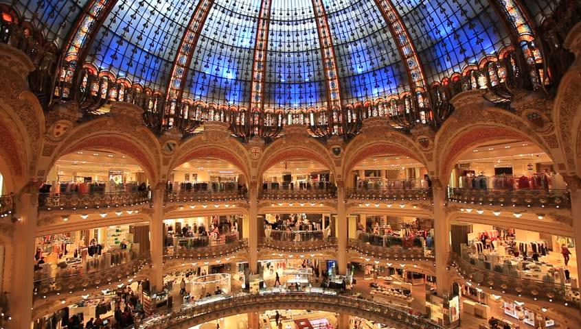 PARIS, FRANCE- 2013: Galeries Lafayette interior