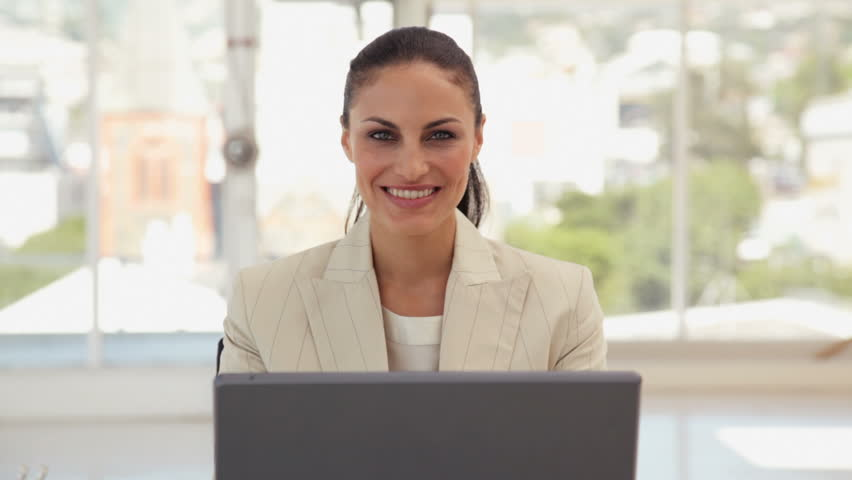 Portrait of a Young Businesswoman - HD stock video clip