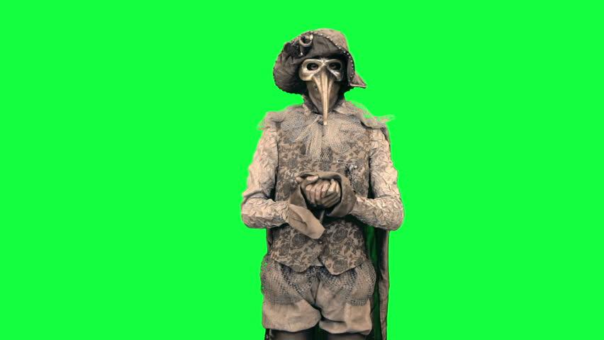 Living statue as Libra Man Chromakey