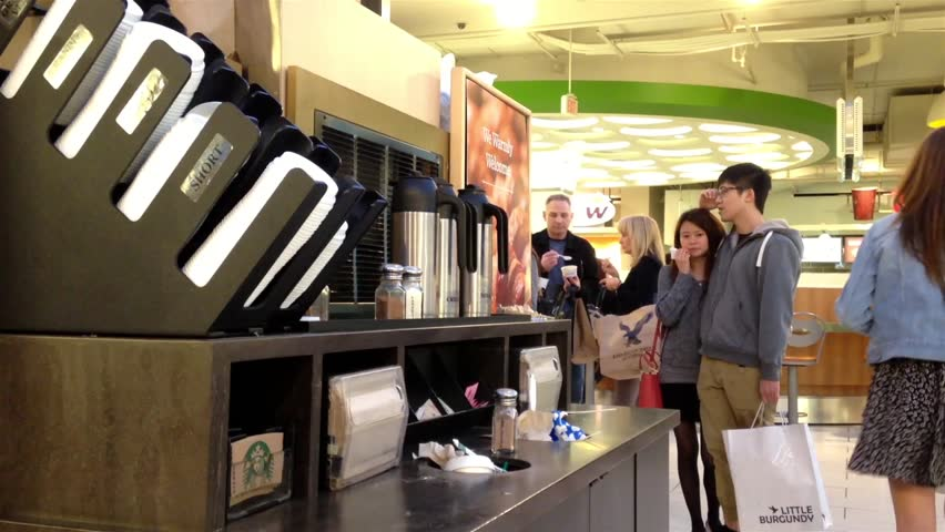 Burnaby (BC) Canada  City new picture : Burnaby, BC, Canada April 04, 2015 : Customer Buying A Coffee At ...